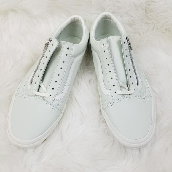 f98cf7ae03 Vans Old Skool Zip Leather Zephyr Blue Shoes